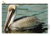 Brown Pelican Swimming Carry-all Pouch