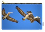 Brown Pelicans In Flight Carry-all Pouch