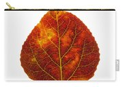Brown Red And Yellow Aspen Leaf 1 Carry-all Pouch