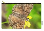 Brown Skipper Butterfly Square Carry-all Pouch