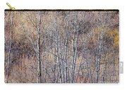 Brown Winter Forest With Bare Trees Carry-all Pouch