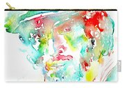 Bruce Springsteen Watercolor Portrait Carry-all Pouch by Fabrizio Cassetta