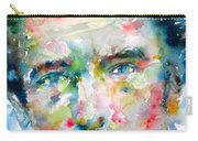 Bruce Springsteen Watercolor Portrait.1 Carry-all Pouch by Fabrizio Cassetta