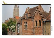 Bruges Houses With Bell Tower Carry-all Pouch by Carol Groenen