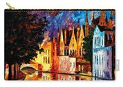 Bruges - Northern Venice Carry-all Pouch by Leonid Afremov
