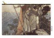 Brunnhilde From The Rhinegold And The Valkyrie Carry-all Pouch by Arthur Rackham
