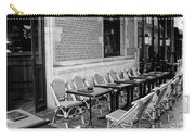 Brussels Cafe In Black And White Carry-all Pouch by Carol Groenen