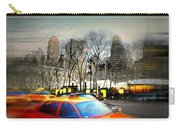 Bryant Park Taxi Carry-all Pouch by Diana Angstadt