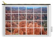 Bryce Canyon White Picture Window View Carry-all Pouch