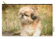 Shih Tzu In Oil Carry-all Pouch