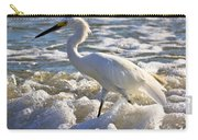 Bubbles Around Snowy Egret Carry-all Pouch