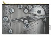 Bubbles In Grey Carry-all Pouch
