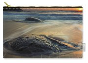 Bubbles On The Sand Carry-all Pouch by Mike  Dawson