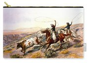 Buccaroos Carry-all Pouch by Charles Russell