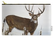 Buck At Waters Edge Carry-all Pouch