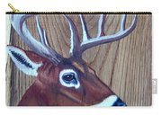 Buck Deer On Rustic Wood Carry-all Pouch