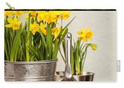 Buckets Of Daffodils Carry-all Pouch by Amanda Elwell