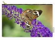 Buckeye Butterfly On Purple Flowers Carry-all Pouch