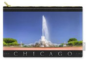 Buckingham Fountain Panorama Poster Carry-all Pouch