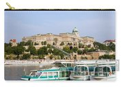 Buda Castle And Boats On Danube River Carry-all Pouch