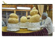 Buddha Figures With Thick Layer Of Gold Leaf In Phaung Daw U Pagoda Myanmar Carry-all Pouch