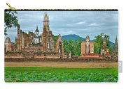 Buddhas At Wat Mahathat In 13th Century Sukhothai Historical Park-thailand Carry-all Pouch