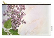 Budding Lilac Flowers Carry-all Pouch
