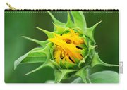 Budding Sunflower Carry-all Pouch
