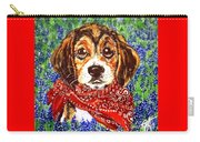 Buddy Dog Beagle Puppy Western Wildflowers Basset Hound  Carry-all Pouch