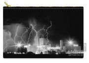 Budweiser Lightning Thunderstorm Moving Out Bw Pano Carry-all Pouch