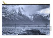 Buffalo And Mountain In Jackson Hole Carry-all Pouch