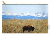 Buffalo And The Rocky Mountains Carry-all Pouch