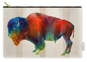 Buffalo Animal Print - Wild Bill - By Sharon Cummings Carry-all Pouch