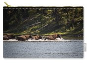 Buffalo Crossing - Yellowstone National Park - Wyoming Carry-all Pouch