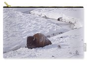 Buffalo In Snow   #6872 Carry-all Pouch