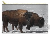 Buffalo In Snow Carry-all Pouch