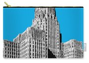 Buffalo New York Skyline 1 - Ice Blue Carry-all Pouch
