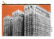 Buffalo New York Skyline 2 - Coral Carry-all Pouch