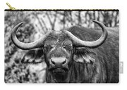 Buffalo Stare In Black And White Carry-all Pouch