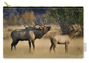 Bugling Elk With Calf Carry-all Pouch