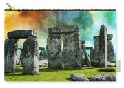 Building A Mystery - Stonehenge Art By Sharon Cummings Carry-all Pouch