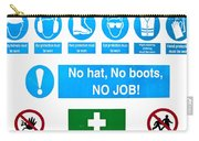 Building Site Safety Carry-all Pouch by Tom Gowanlock