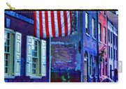 Buildings Flag Bright Red Coat Carry-all Pouch