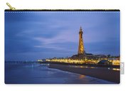 Buildings Lit Up At Dusk, Blackpool Carry-all Pouch