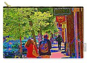 Buk And Nola Gift Shop Decor Boutique Rue Laurier Art Of Montreal Street Scene Carole Spandau Carry-all Pouch