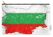 Bulgaria Painted Flag Map Carry-all Pouch