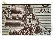Bulgarian Soldier Stamp - Circa 1944 Carry-all Pouch