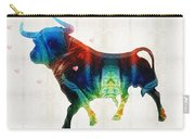 Bull Art - Love A Bull 2 - By Sharon Cummings Carry-all Pouch