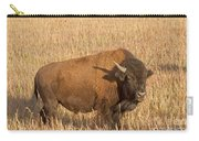 Bull Bison At The  Elk Ranch Grand Teton National Park Carry-all Pouch