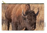 Bull Bison Running In Yellowstone National Park Carry-all Pouch